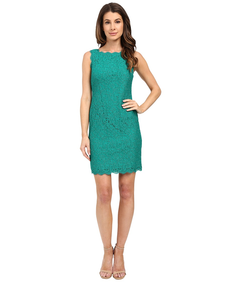 Adrianna Papell - Sleeveless Dress (Emerald) Women's Dress