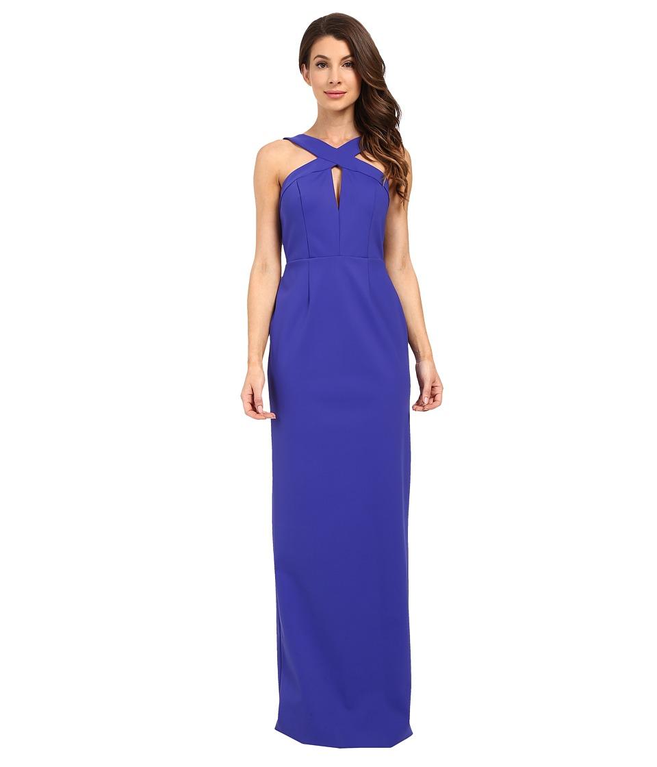 Adrianna Papell - Cross Front Column Dress (Blue) Women's Dress