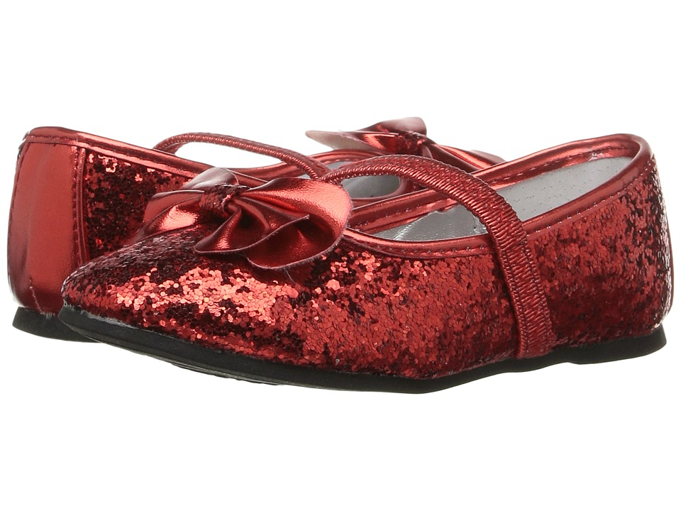 Nina Kids - Hazelle-T (Toddler/Little Kid) (Red Chunky Glitter) Girl's Shoes