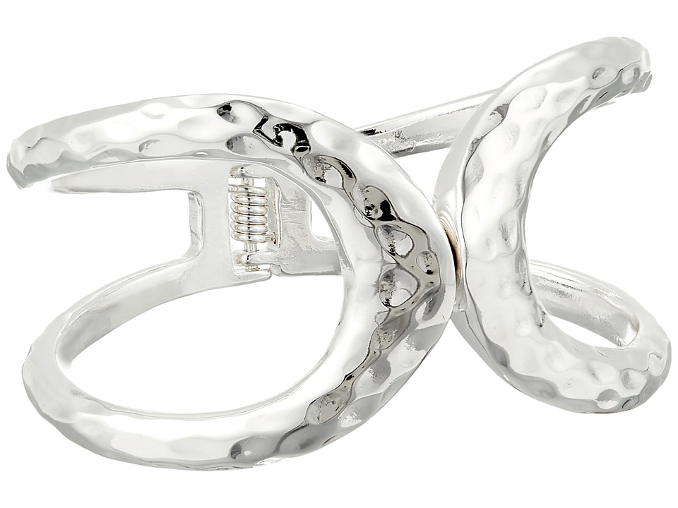 Robert Lee Morris - Silver Cut Out Hinge Bangle Bracelet (Shiny Silver) Bracelet