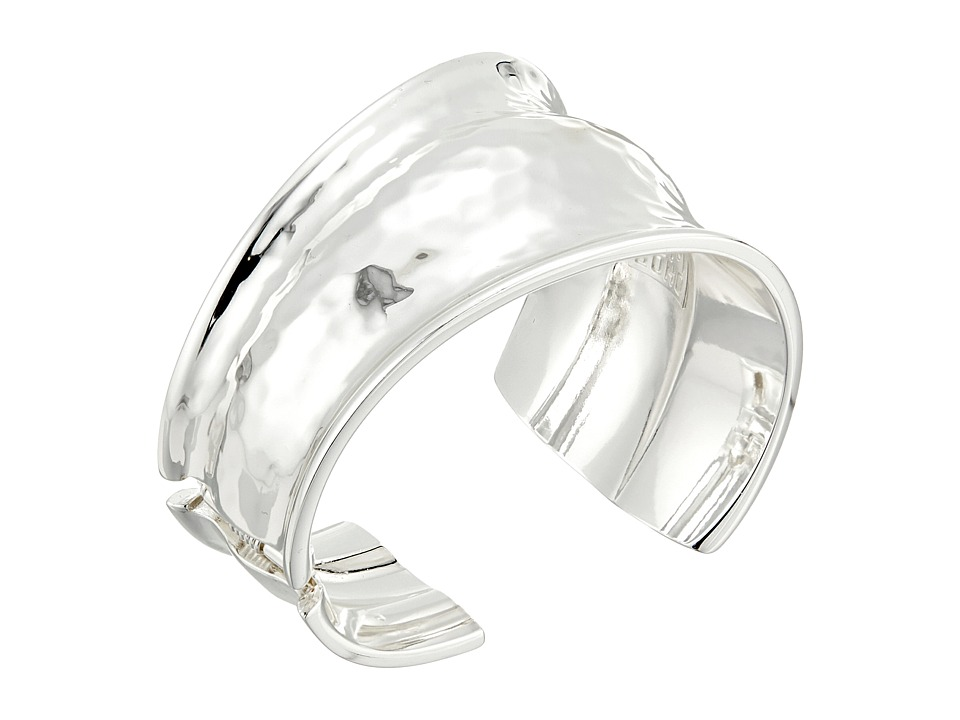 Robert Lee Morris - Silver Hammered Cuff Bracelet (Shiny Silver) Bracelet