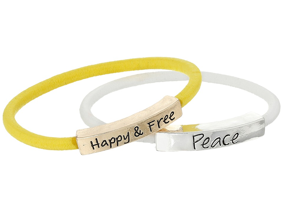 The Sak - Sakroots by The Sak Happy Free Peace Elastic Bracelet Set (Multi) Bracelet