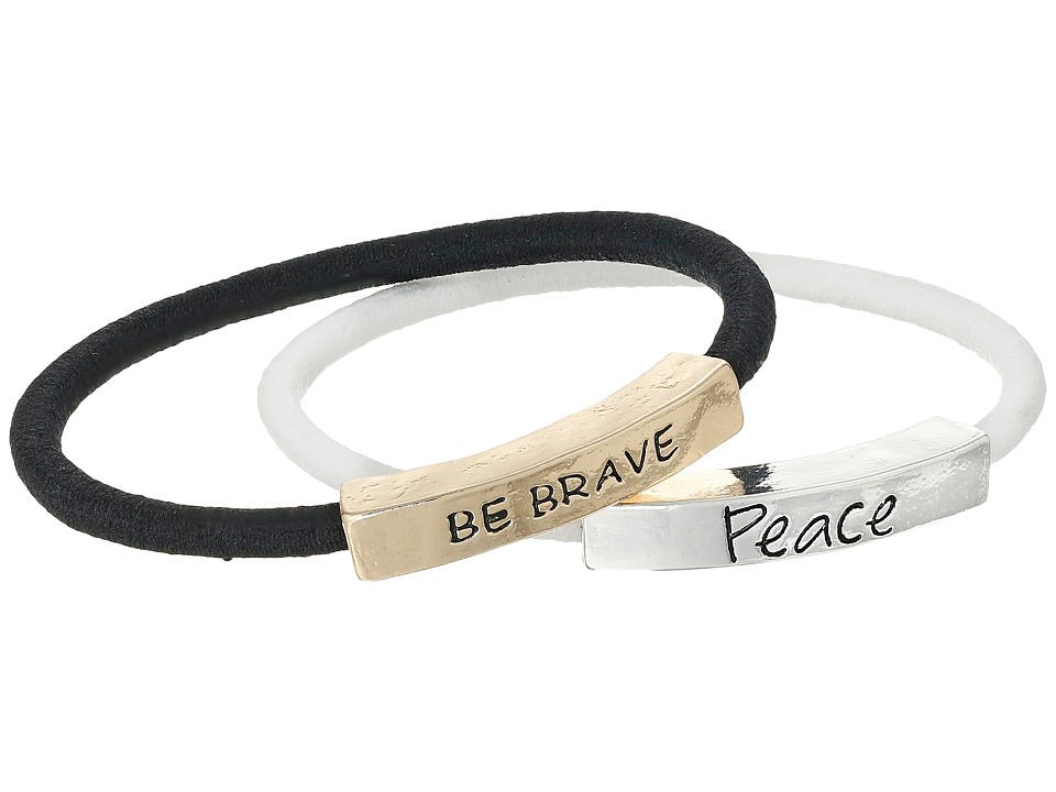 The Sak - Sakroots by The Sak Be Brave Peace Elastic Bracelet Set (Multi) Bracelet