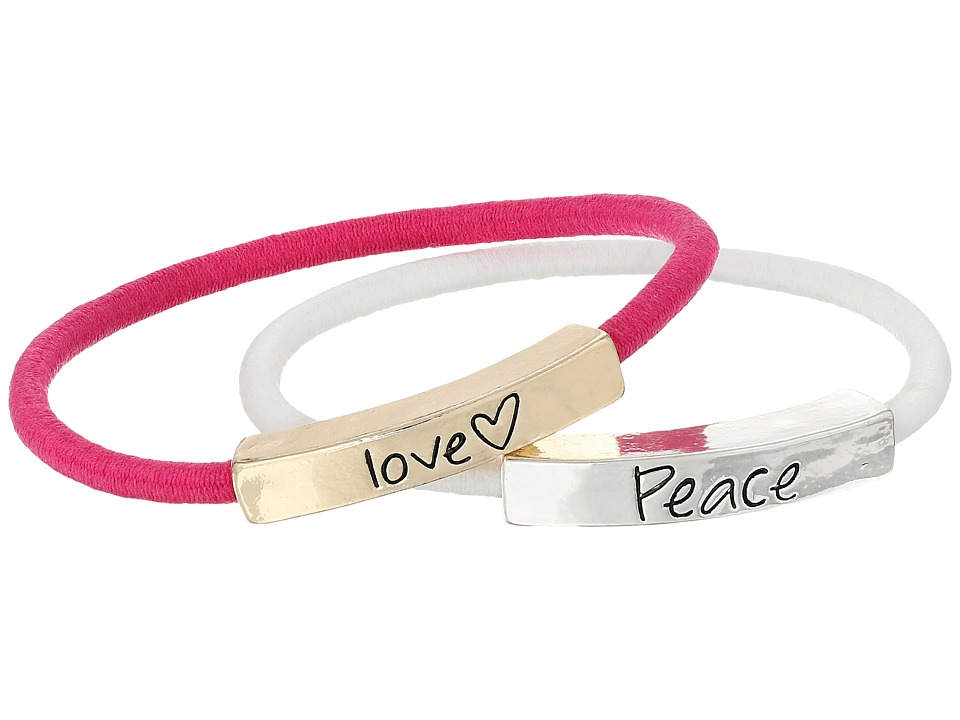 The Sak - Sakroots by The Sak Love Peace Elastic Bracelet Set (Multi) Bracelet