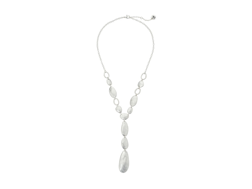 The Sak - Linked Y Necklace 18 (Silver) Necklace