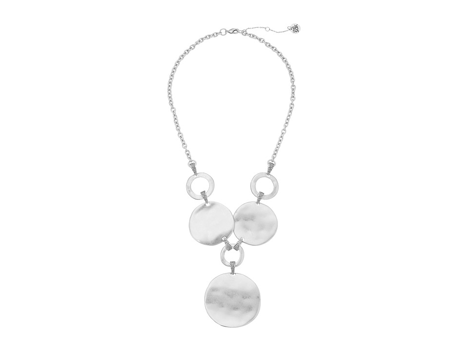 The Sak - Metal Disc Frontal Necklace 18 (Silver) Necklace