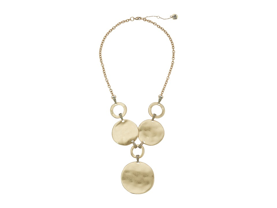 The Sak - Metal Disc Frontal Necklace 18 (Gold) Necklace