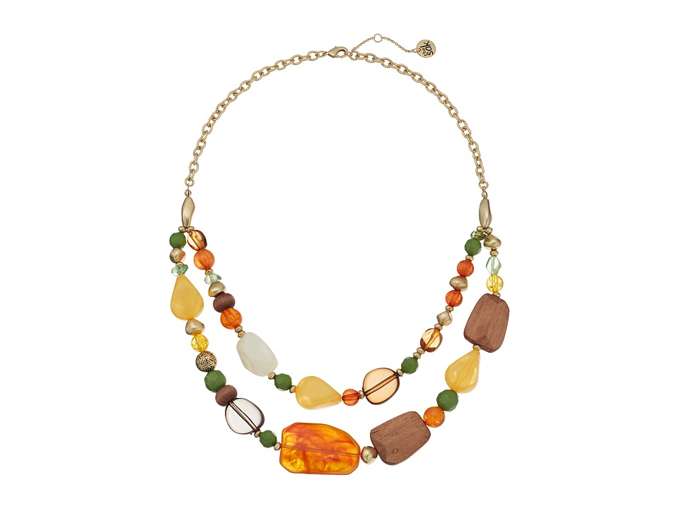 The Sak - Double Layer Beaded Necklace 18 (Multi) Necklace