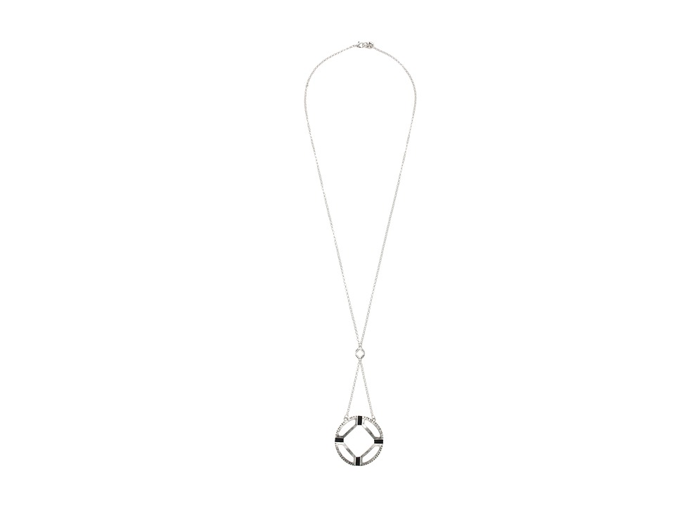 The Sak - Open Thread Pendant Necklace 28 (Silver) Necklace