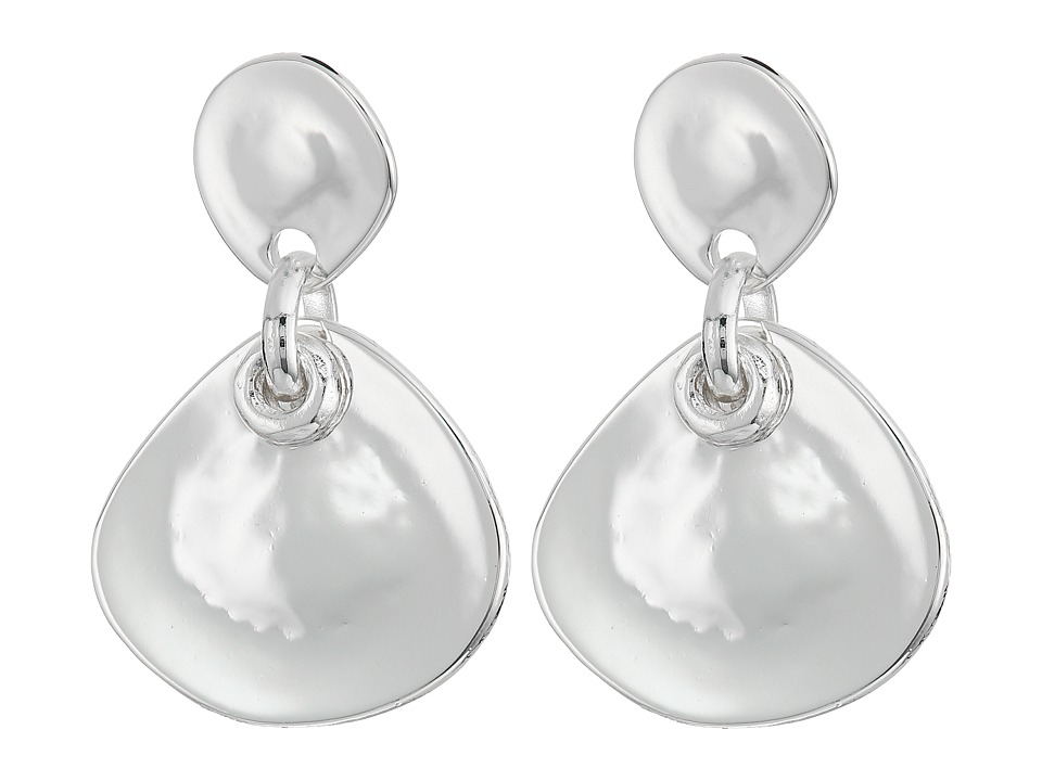Robert Lee Morris - Silver Double Drop Earrings (Shiny Silver) Earring