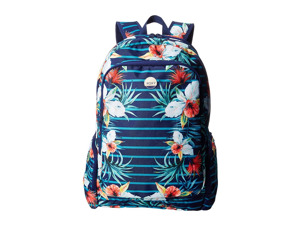 Roxy - Alright Backpack (Exotic Lines Combo Marine) Backpack Bags