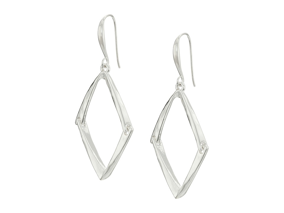 Robert Lee Morris - Shiny Silver Diamond Drop Earrings (Shiny Silver) Earring