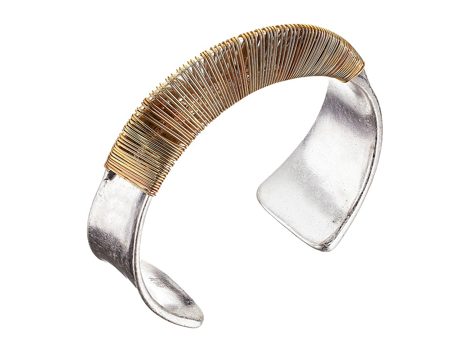 Robert Lee Morris - Wire Wrap Curved Cuff Bracelet (Two-Tone) Bracelet