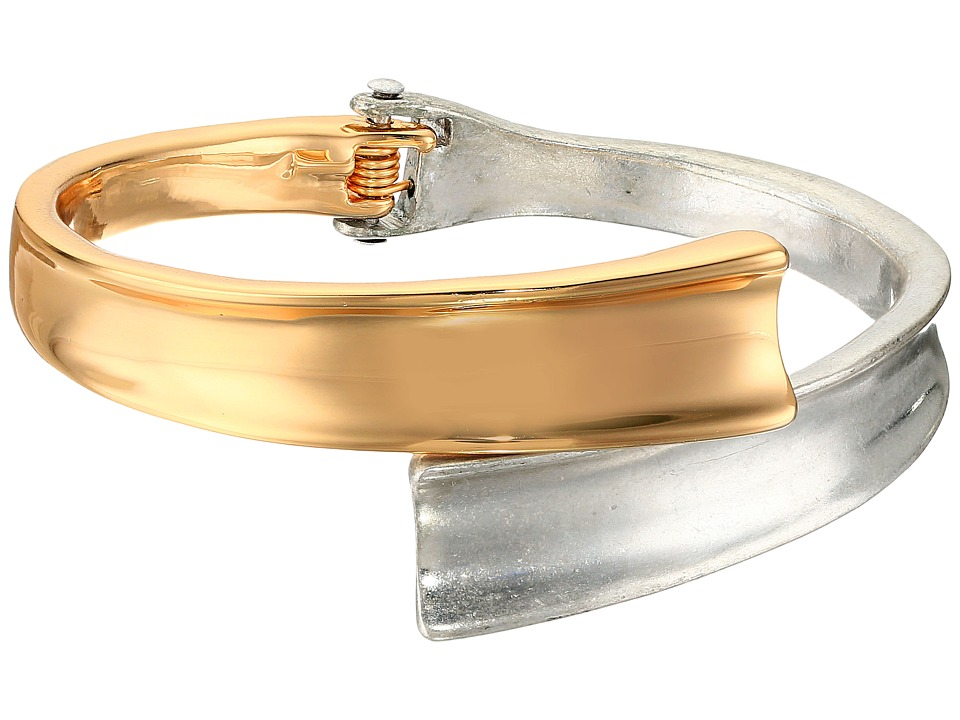 Robert Lee Morris - Two-Tone Hinged Bypass Bangle Bracelet (Two-Tone) Bracelet