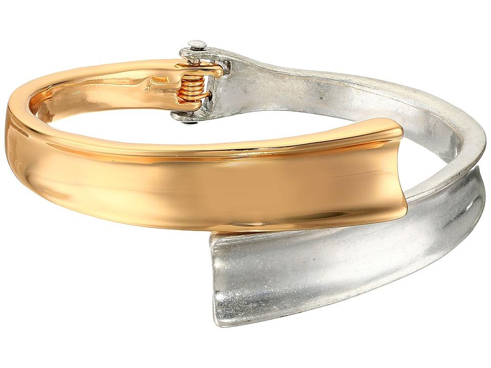 Robert Lee Morris - Two-Tone Hinged Bypass Bangle Bracelet (Two-Tone) Bracelet