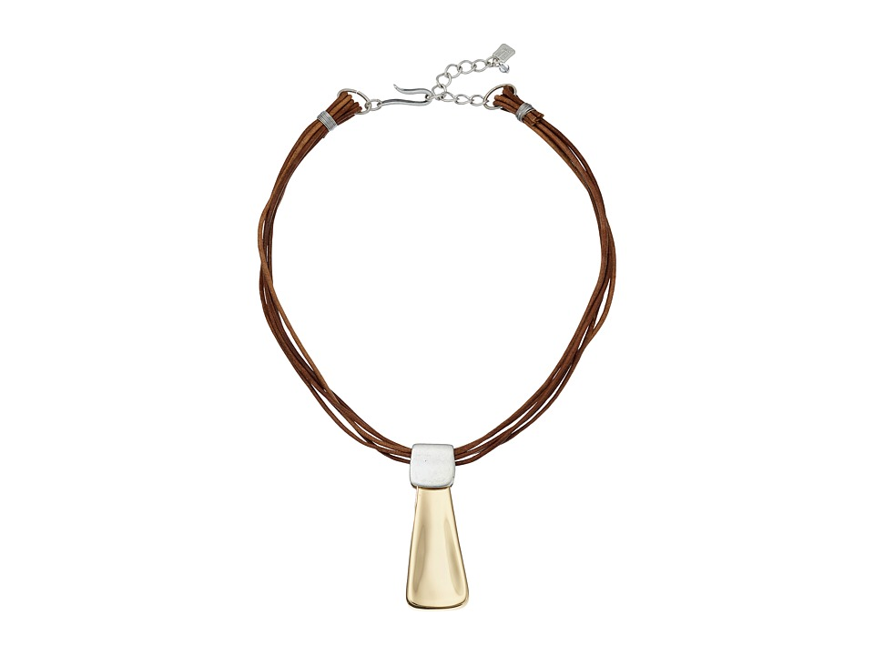 Robert Lee Morris - Leather Pendant Necklace (Brown) Necklace