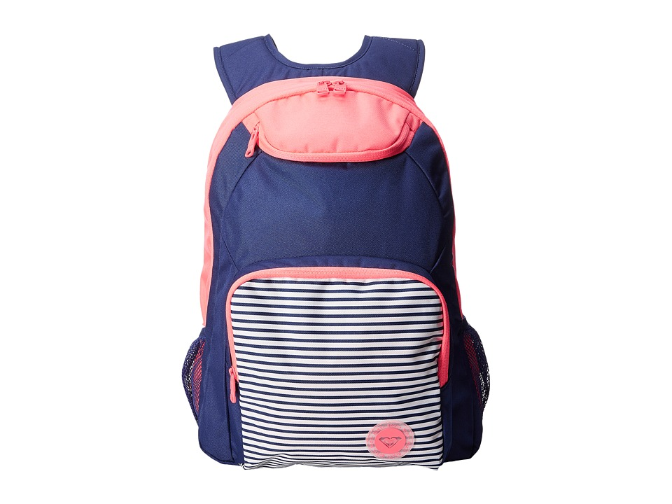 Roxy - Shadow Swell Color Block Backpack (Neon Grapefruit) Backpack Bags