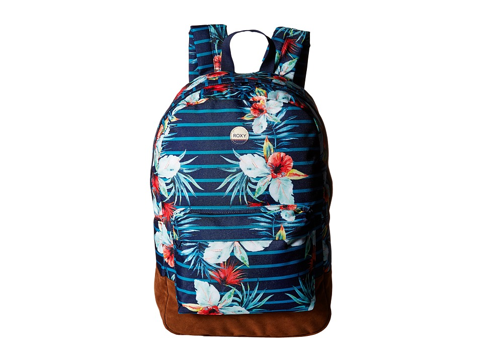Roxy - World Is New Backpack (Exotic Lines Combo Marine) Backpack Bags