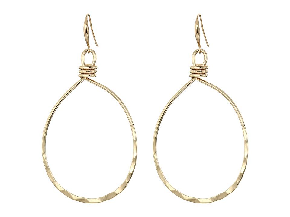 Robert Lee Morris - Shiny Gold Gypsy Hoop Earrings (Shiny Gold) Earring
