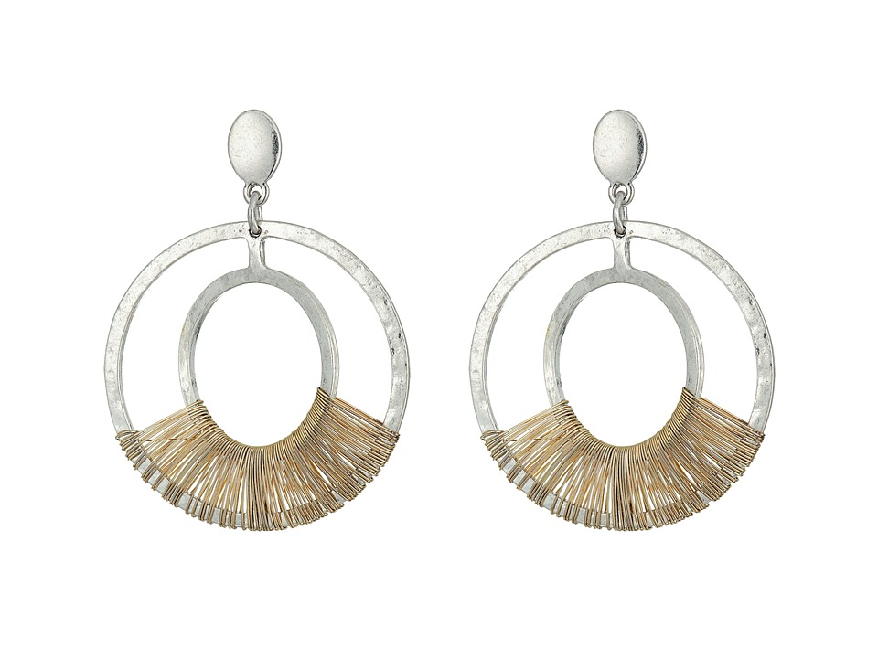 Robert Lee Morris - Two-Tone Orbital Earrings (Two-Tone) Earring