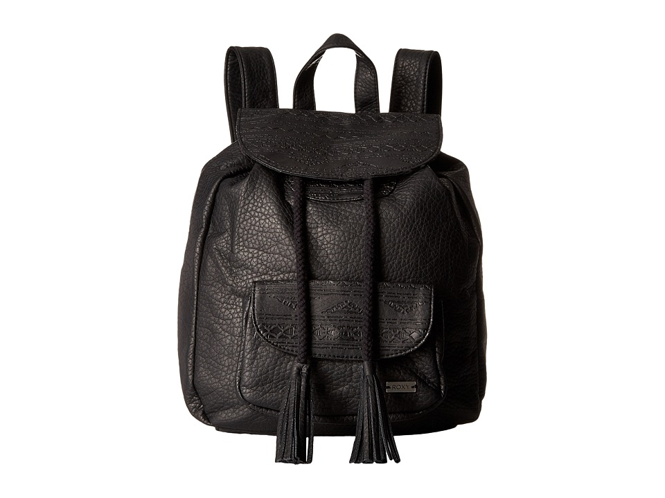 Roxy - Ocean Roar Backpack (True Black) Shoulder Handbags