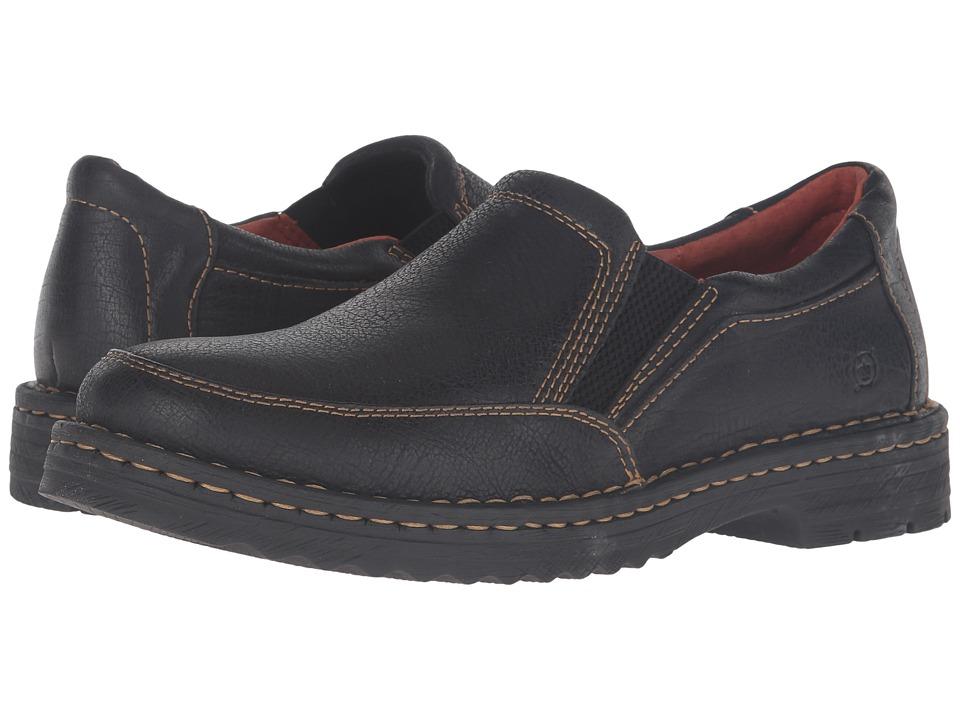Born - Rustad (Black Full Grain Leather) Men's Slip on Shoes