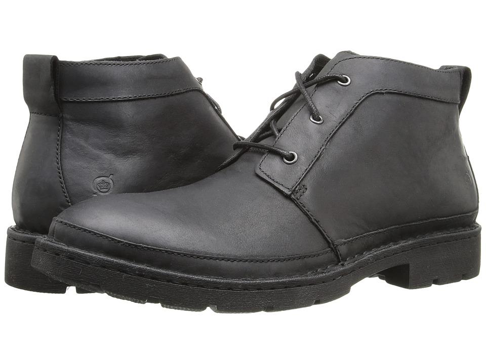 Born - Melick (Black Full Grain Leather) Men's Lace-up Boots