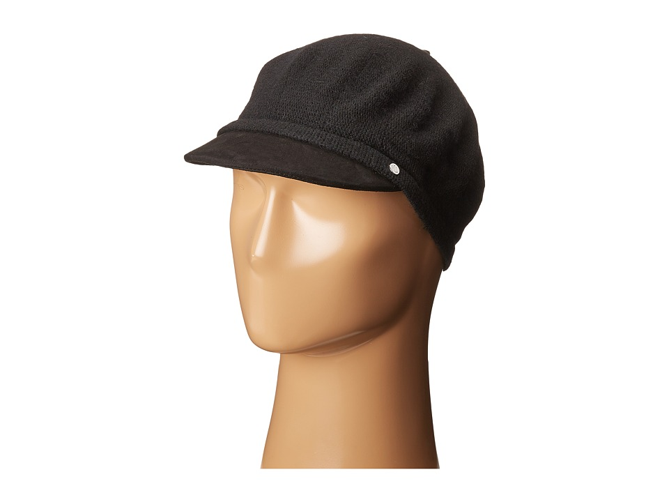LAUREN Ralph Lauren - Suede Brim Greek Fisherman Hat (Black/Black) Caps