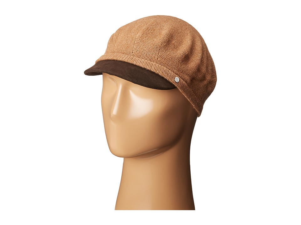LAUREN Ralph Lauren - Suede Brim Greek Fisherman Hat (Camel Heather/Coffee) Caps