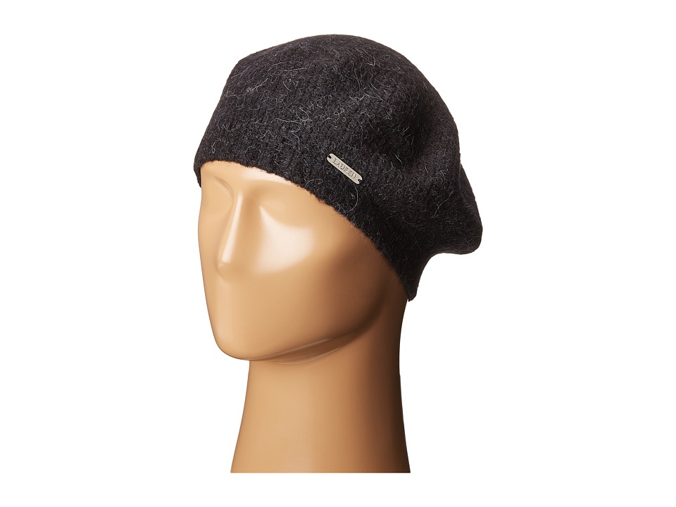 LAUREN Ralph Lauren - Boiled Wool Beret (Black) Berets