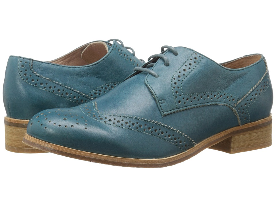 Miz Mooz - Brigitta (Turquoise) Women's Dress Flat Shoes