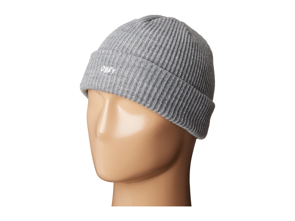 Obey - Hangman Beanie (Heather Grey) Beanies
