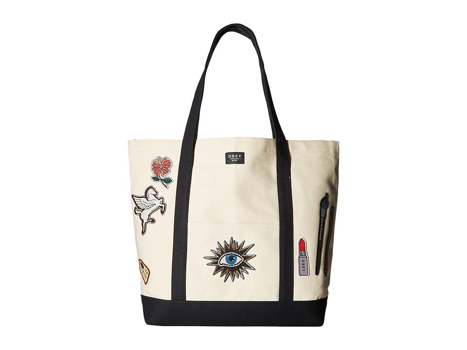 Obey - Dope Patches Tote Bag (Natural) Tote Handbags