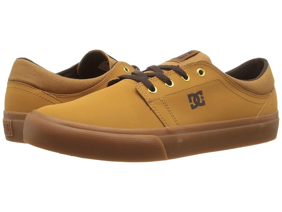 DC - Trase NU (Wheat/Dark Chocolate) Men's Skate Shoes