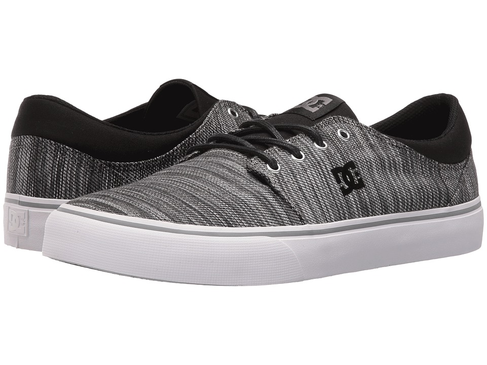 DC - Trase TX SE (Black/Grey/Grey) Skate Shoes