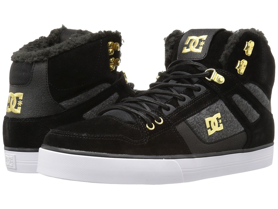 DC - Spartan High WC WNT (Black/Gold) Men's Shoes