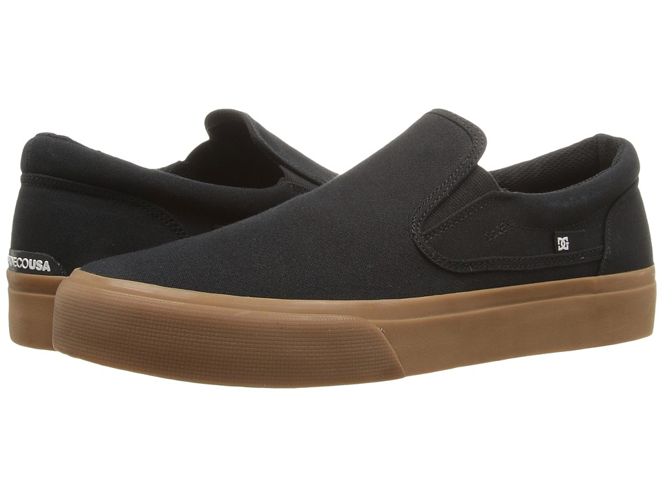DC - Trase Slip-On TX (Black/Gum) Skate Shoes