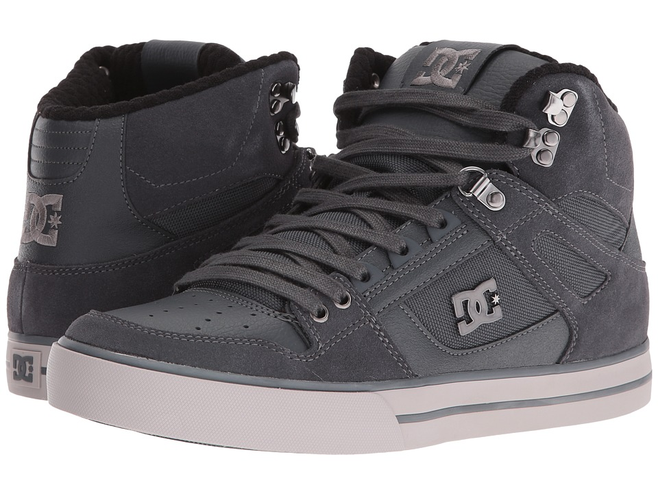DC - Spartan High WC SE (Grey) Men's Skate Shoes