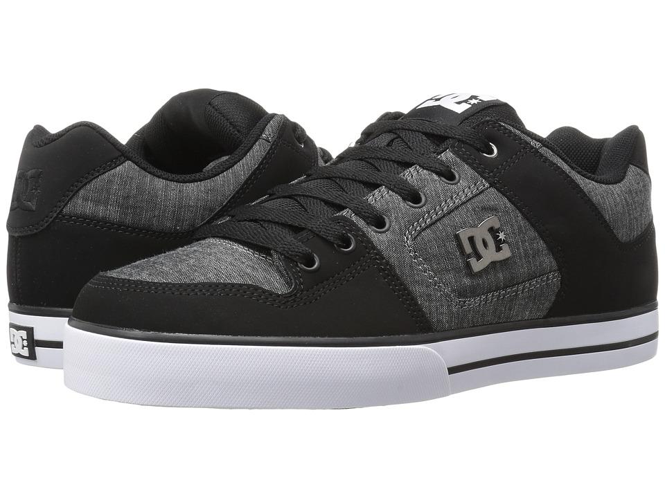 DC - Pure TX SE (Black) Men's Skate Shoes