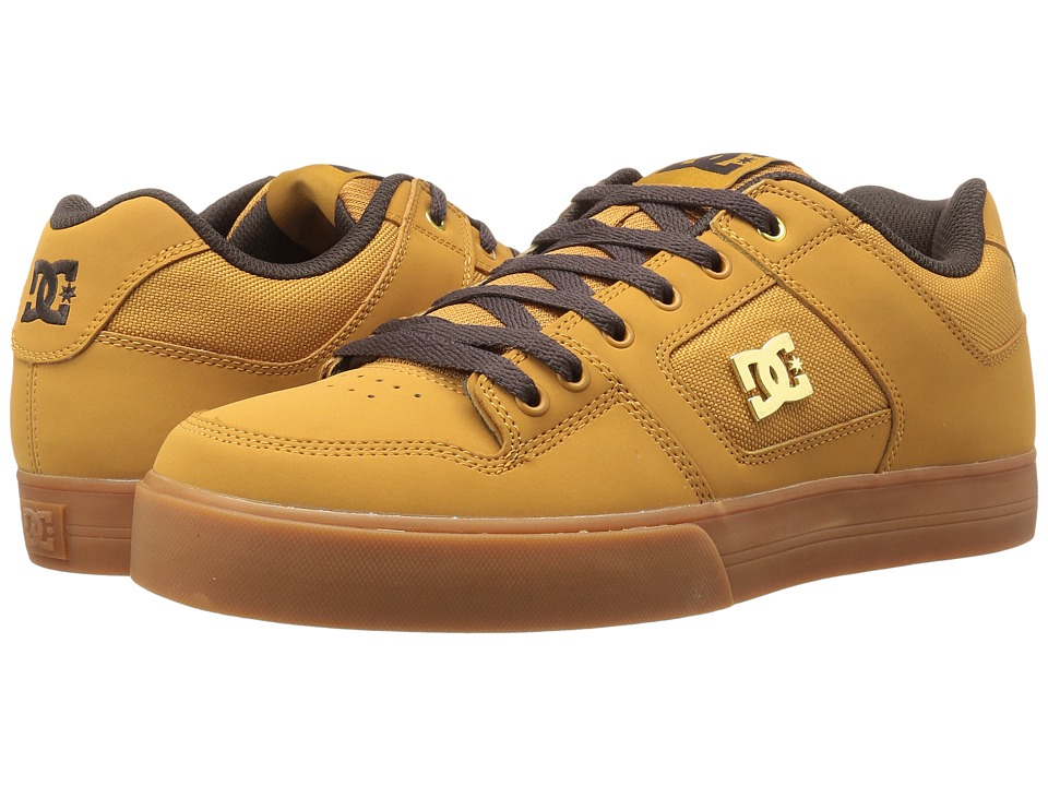 DC - Pure SE (Wheat/Dark Chocolate) Men's Skate Shoes