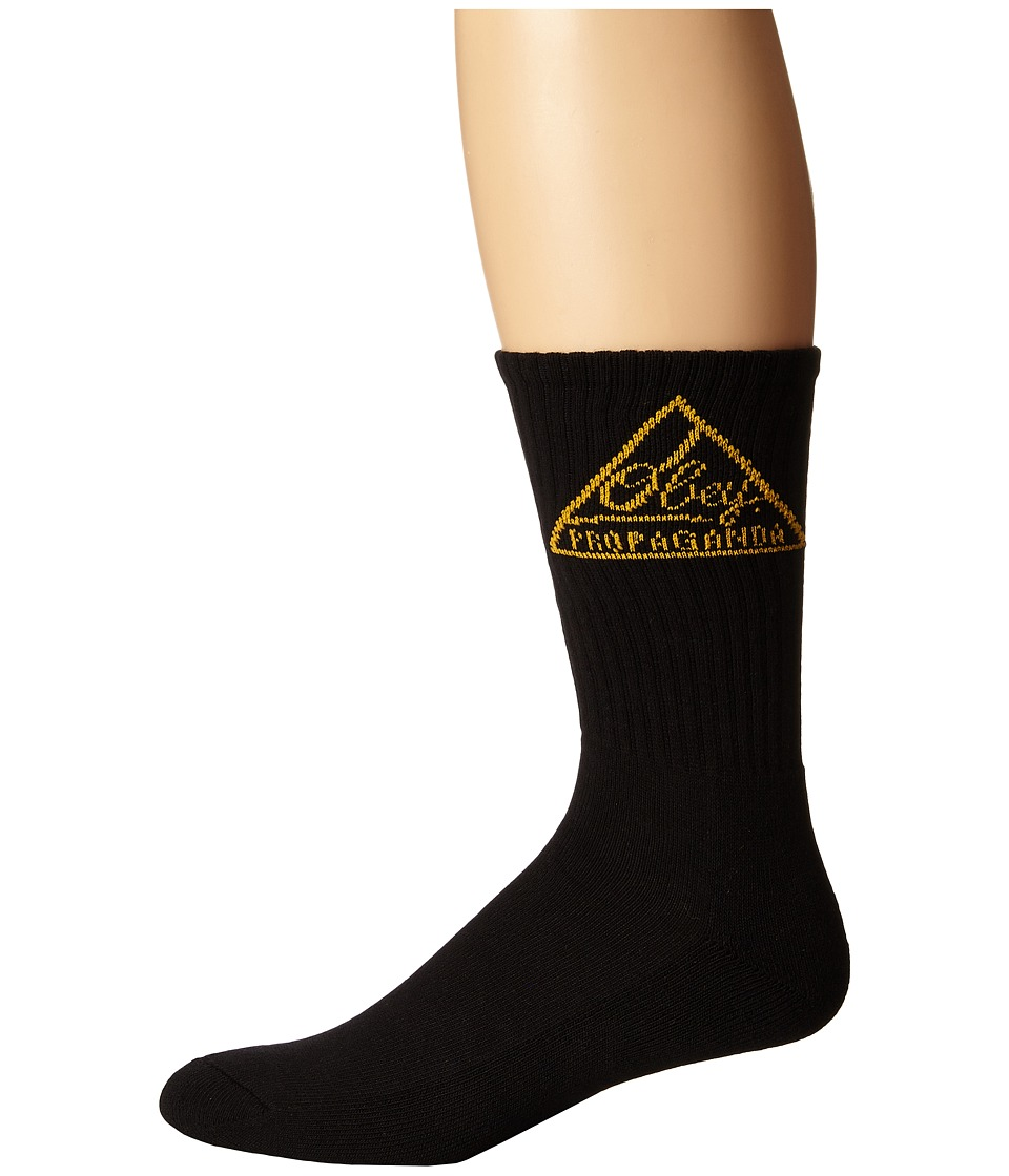 Obey - Federated Sock (Black/Gold) Men's Crew Cut Socks Shoes