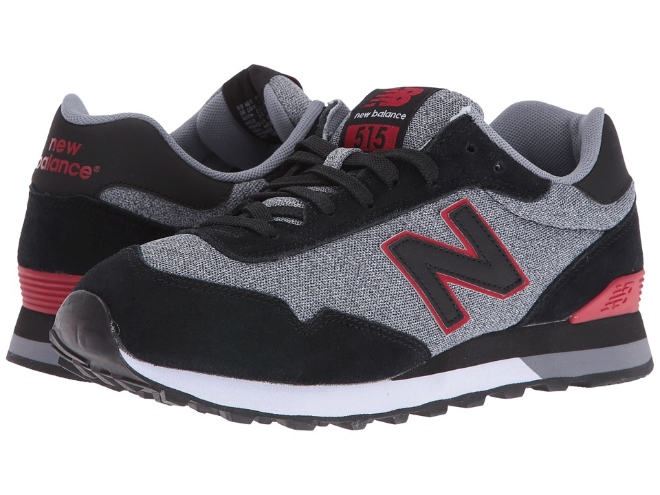 New Balance Classics ML515 (Black/Red Suede/Mesh) Men