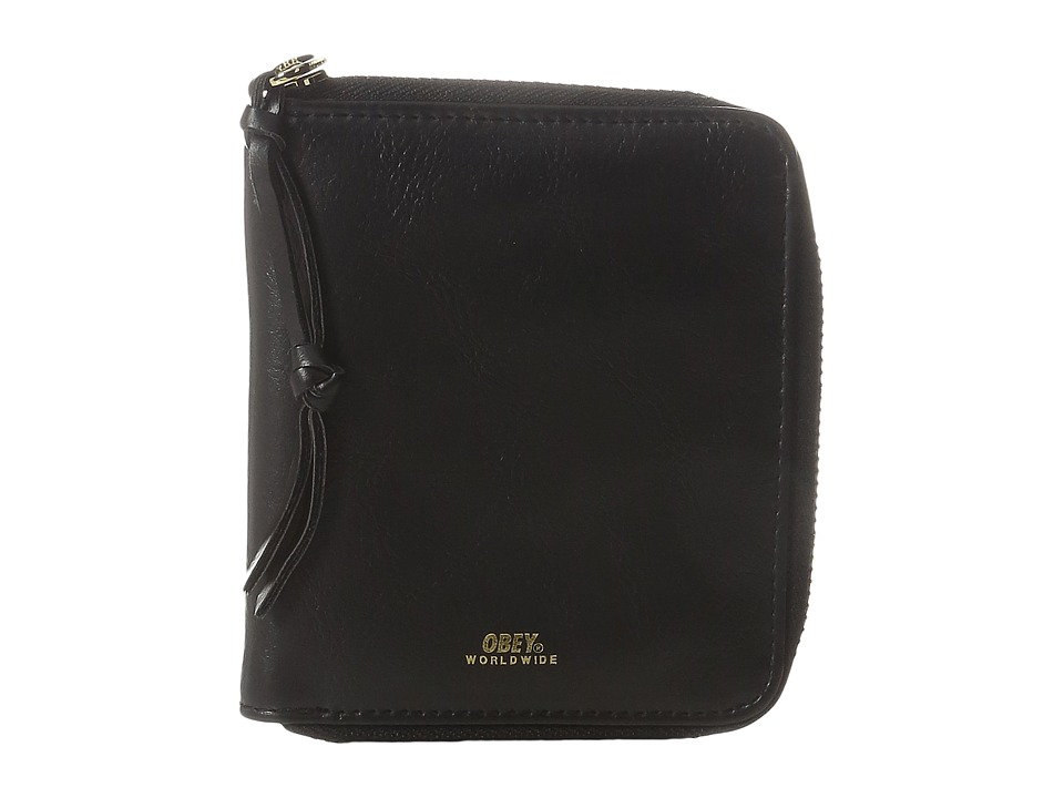 Obey - Gentry II Zip Around Wallet (Black) Wallet Handbags