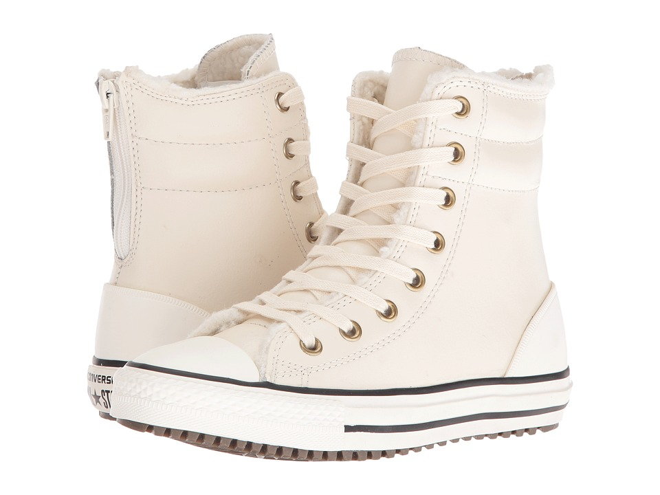 Converse Kids - Chuck Taylor All Star Hi-Rise Boot (Little Kid/Big Kid) (Parchment/Black/Egret) Girls Shoes