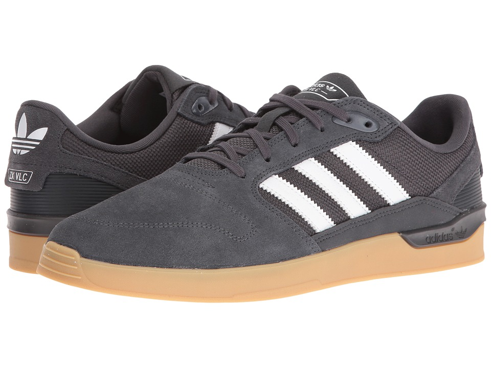 adidas Skateboarding - ZX Vulc (Dark Grey Heather Solid Grey/White/Gum) Men's Skate Shoes