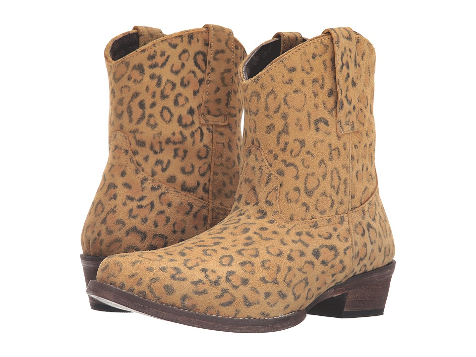 Roper Cheetah (Tan Cheetah Print Leather) Cowboy Boots