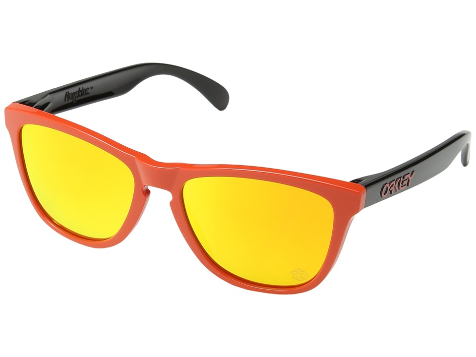 Oakley - Frogskins Heritage (Red w/ Fire Iridium) Sport Sunglasses