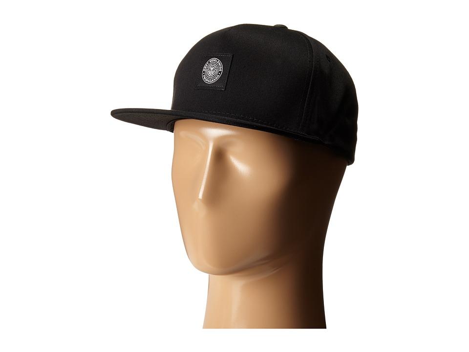 Obey - Worldwide Seal Snapback Hat (Black) Caps