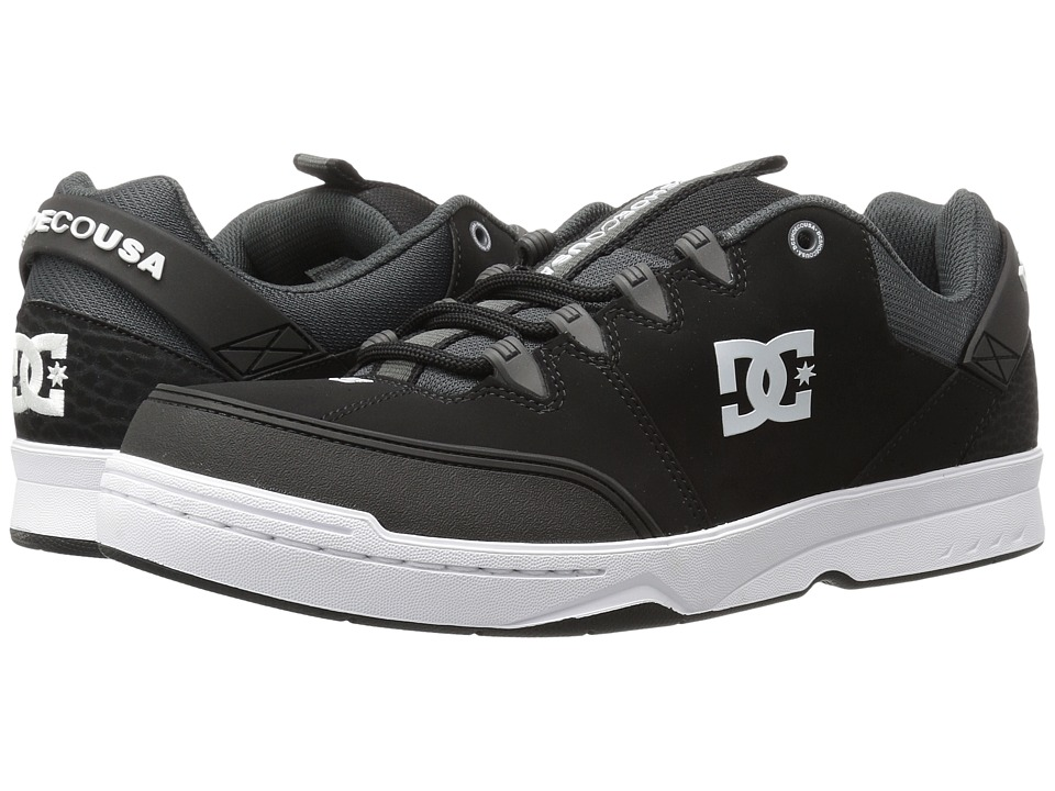DC - Syntax (Black/Grey) Men's Skate Shoes