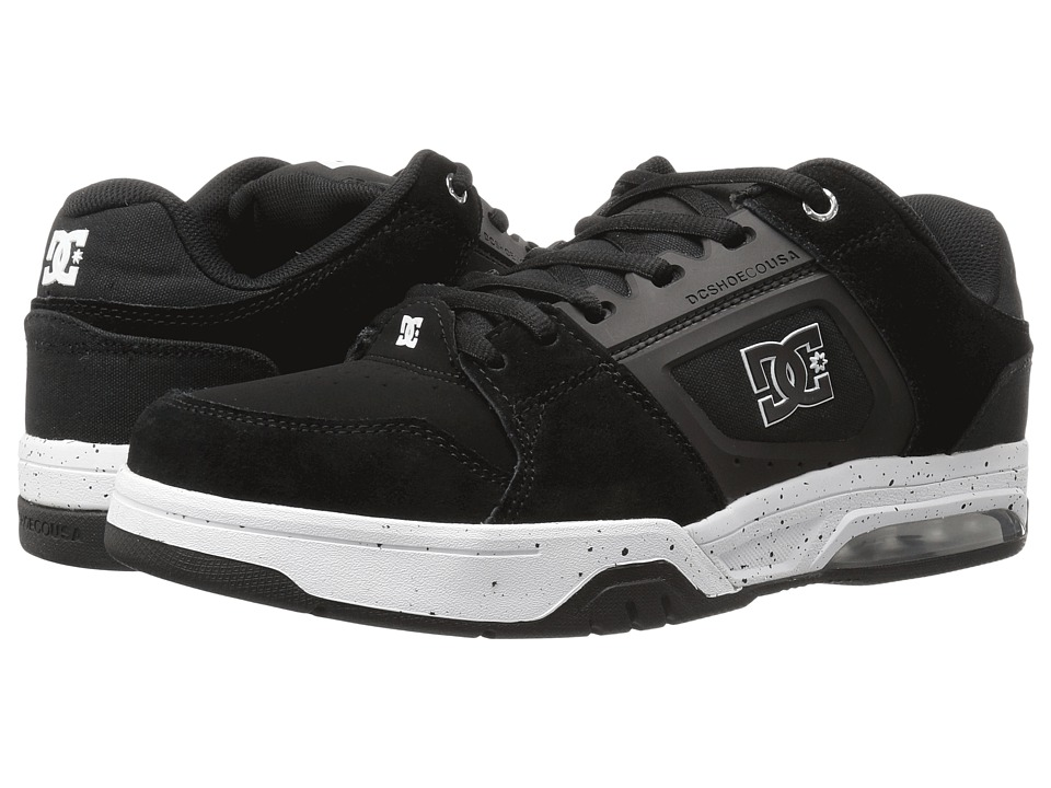 DC - Rival (Black/White) Men's Skate Shoes